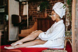 domowe spa, masaż twarzy